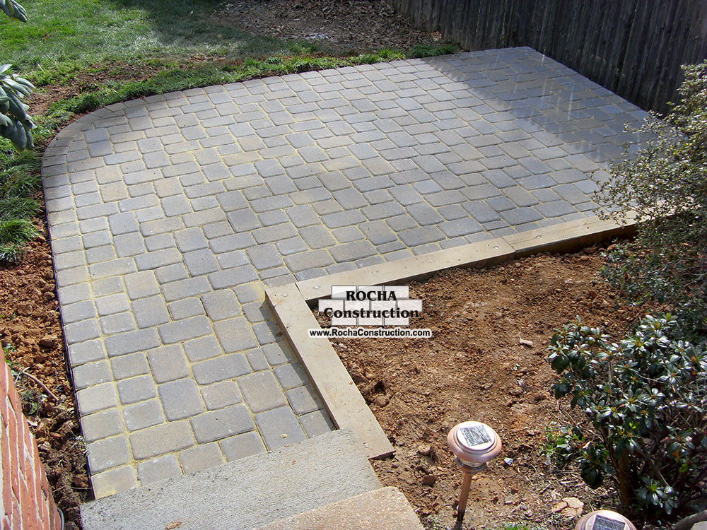 Simple paver patio home design scrappy for Paver patio ideas pictures