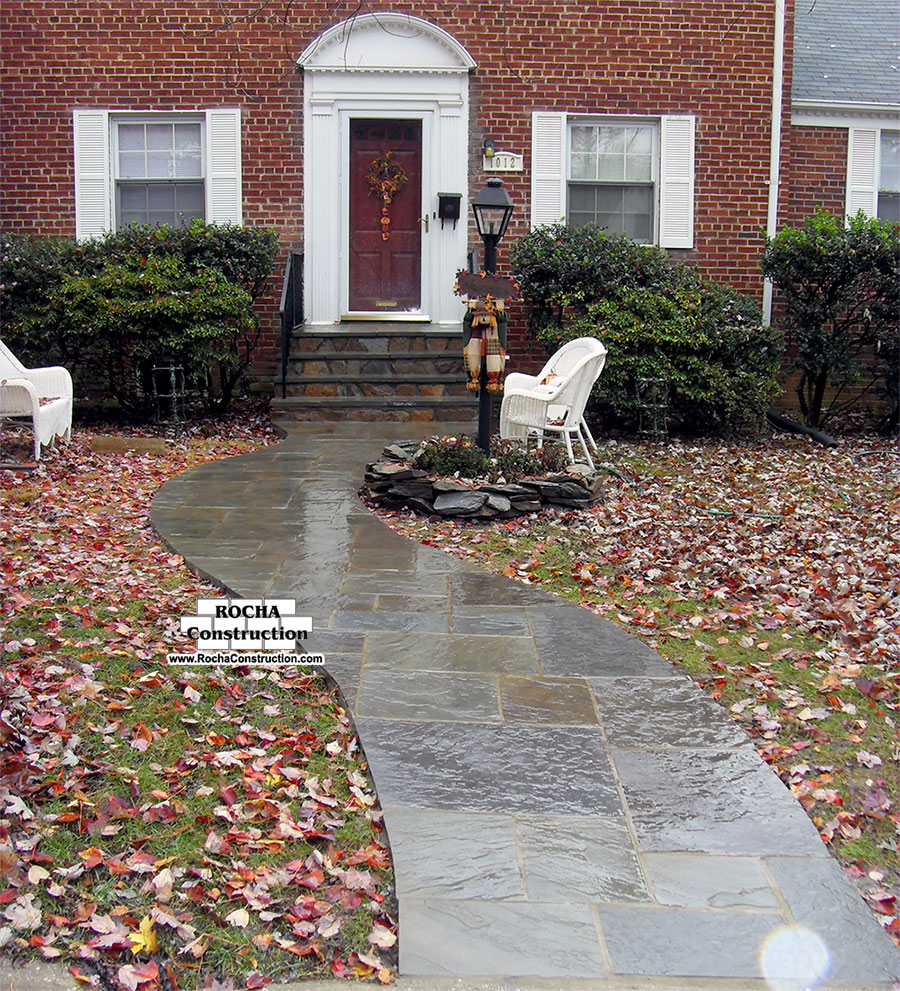 flagstone walkway rocha construction silver spring md
