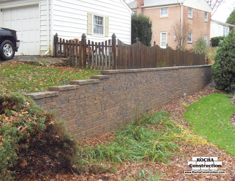 Retaining Wall Construction : Concrete patios masonry outdoor kitchens amp fireplaces